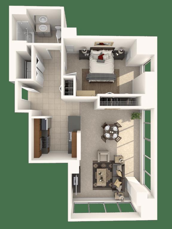 1G Floor Plan |Hartford 21