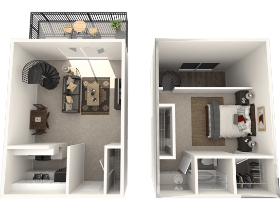 1X1 Floor Plan | Randolph Park