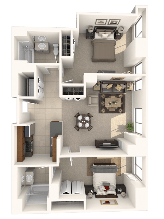Floor Plan  2C Floor Plan |Hartford 21