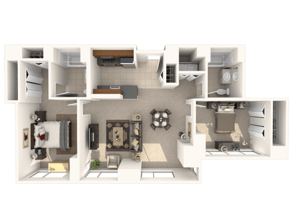 Floor Plan  2E Floor Plan |Hartford 21