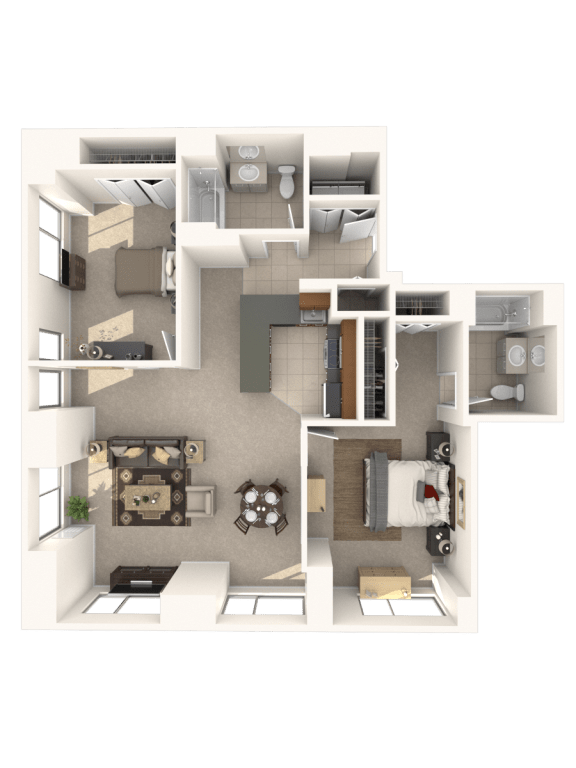 Floor Plan  2H Floor Plan |Hartford 21