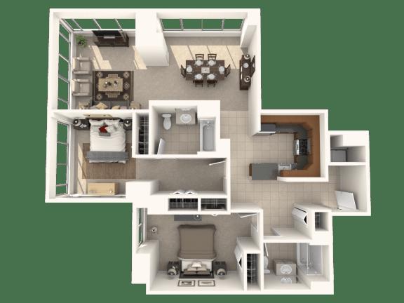 Floor Plan  2J Floor Plan |Hartford 21