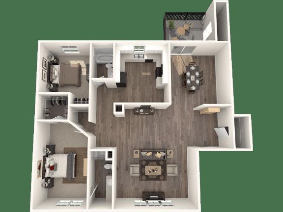 Floor Plan  2X2GD Floor Plan | Randolph Park