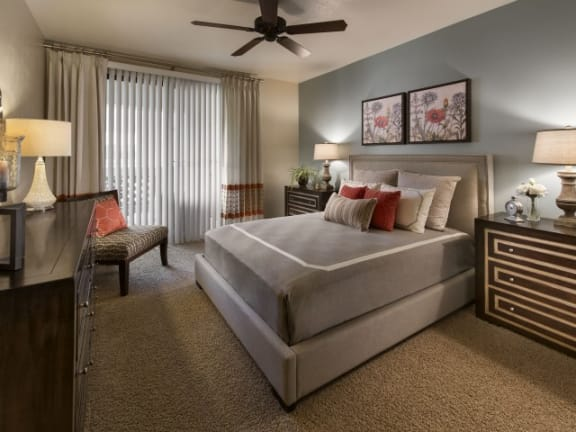 Comfortable Bedroom With Large Window  Villas at San Dorado