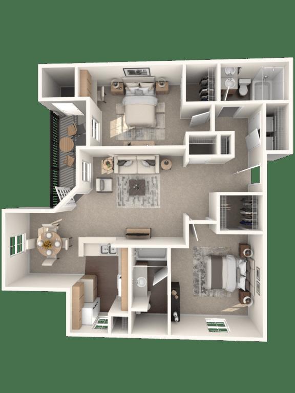 Floor Plan  B | Monterey Ranch