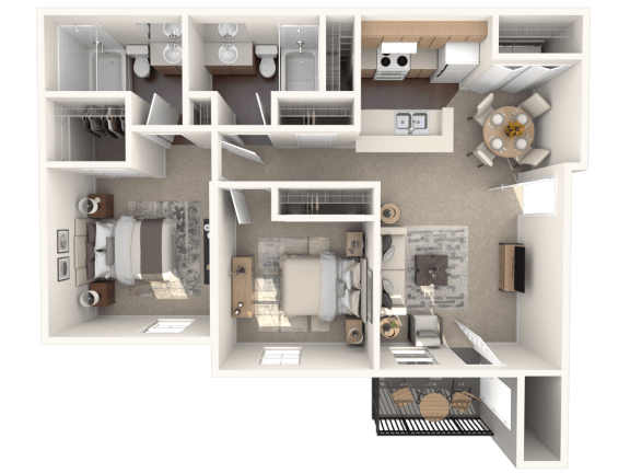 Floor Plan  B3 | Monterey Ranch