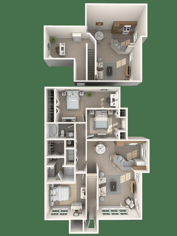 Floor Plan  St Kitts with Loft Floor Plan  Bay Harbor