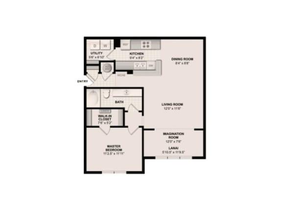 The Aspen Floor Plan|Grandeville on Saxon