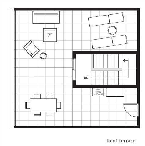 Two Bedroom & Two And A Half Bathroom Floor Plan At Boutique 28 Apartments In Minneapolis, MN