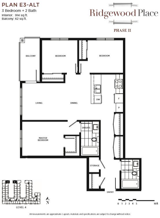 3 Bedroom 2 Bath PLAN E3-ALT