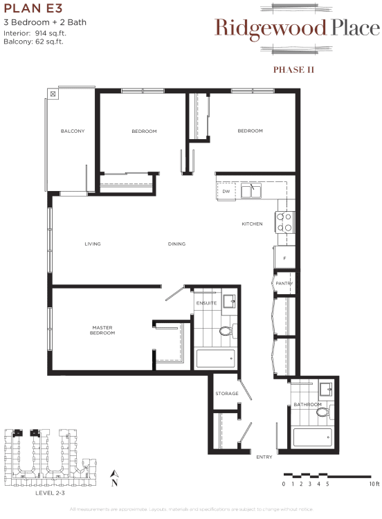 3 Bedroom 2 Bath Plan E3