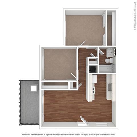 Floor Plan  Floor Layout at Clayton Creek Apartments, California