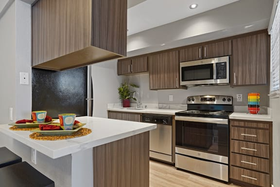 Gourmet Kitchen With Island at Clayton Creek Apartments, Concord