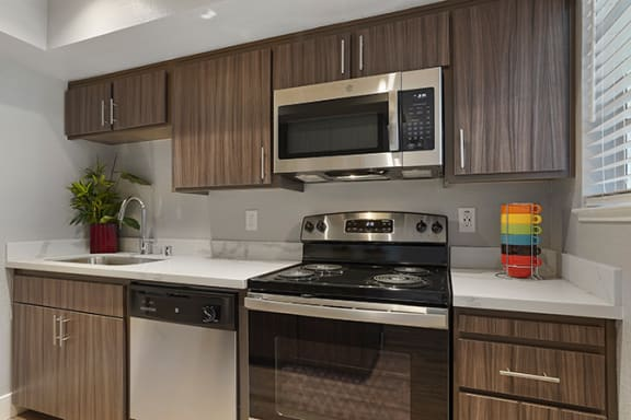 All Electric Kitchen at Clayton Creek Apartments, Concord, California