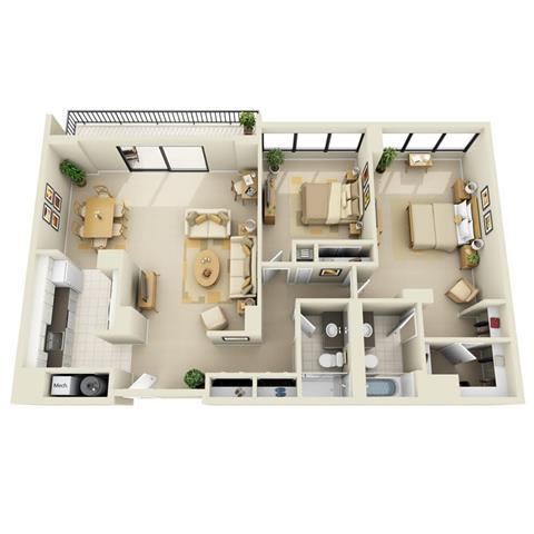 Floor Plan  Tower 2BR D