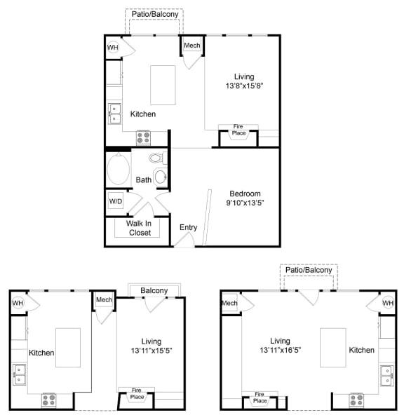 Floor Plan  City Gate Blake one bedroom floor plan