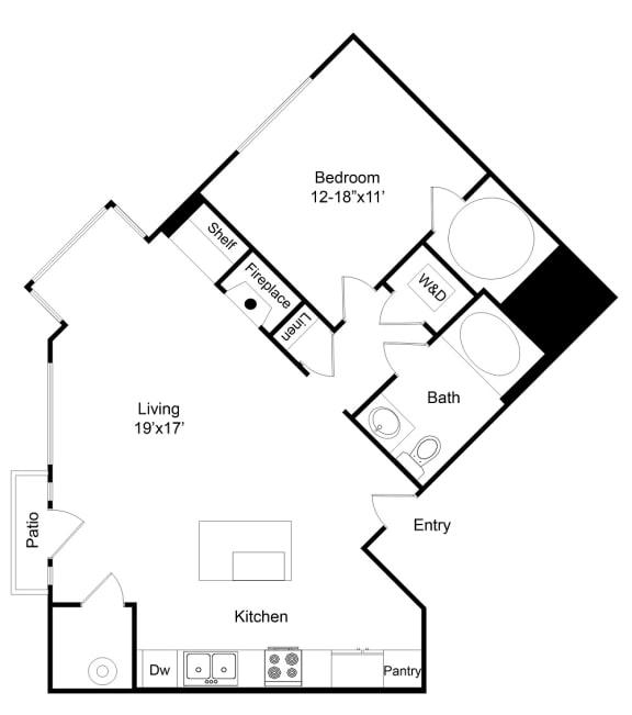 Floor Plan  City Gate Congress one bedroom floor plan