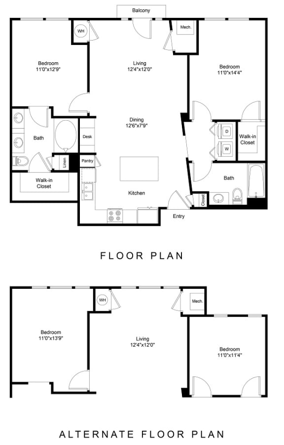 Floor Plan  City Gate Walnut floor plan