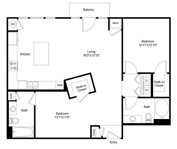 Floor Plan  City Gate Welton floor plan