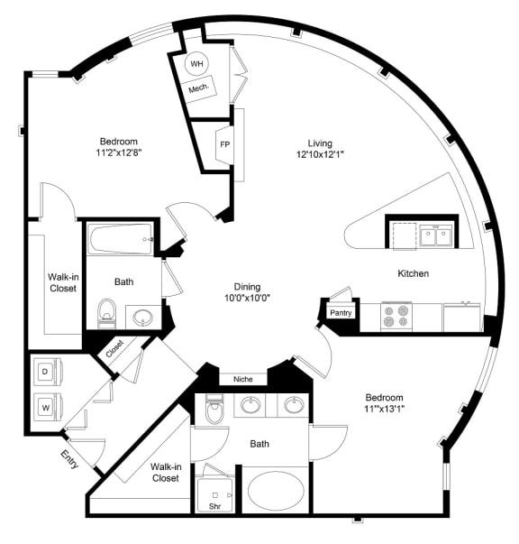 Floor Plan  City Gate Platte floor plan