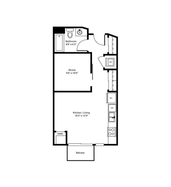 Dock Street Flats Fulton Floorplans