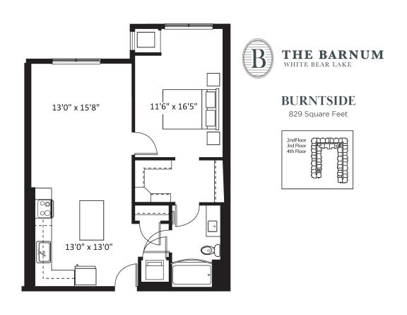 Floor Plan  Burntside Floor Plan at The Barnum, Minnesota, 55110