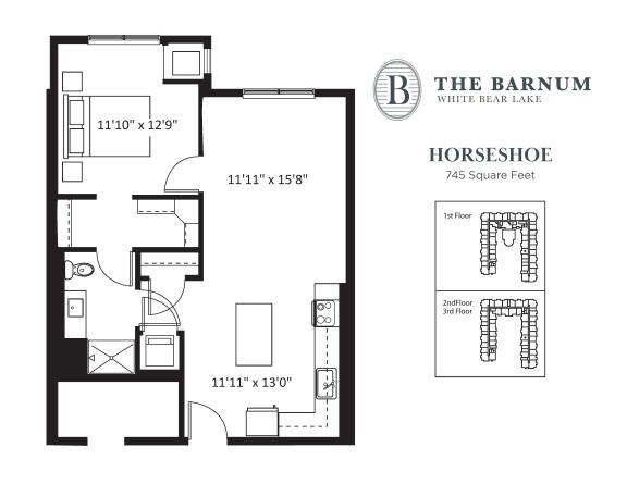 Floor Plan  Horseshoe Floor Plan at The Barnum, White Bear Lake, MN