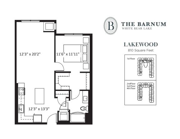 Floor Plan  Lakewood Floor Plan at The Barnum, White Bear Lake