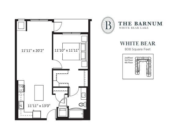 Floor Plan  White Bear Floor Plan at The Barnum, White Bear Lake, MN, 55110