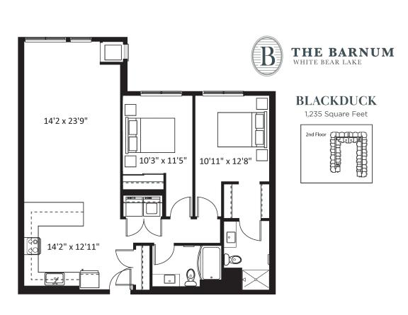 Floor Plan  Blackduck Floor Plan at The Barnum, White Bear Lake, 55110
