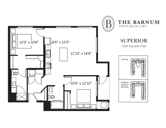 Floor Plan  Superior Floor Plan at The Barnum, White Bear Lake, Minnesota