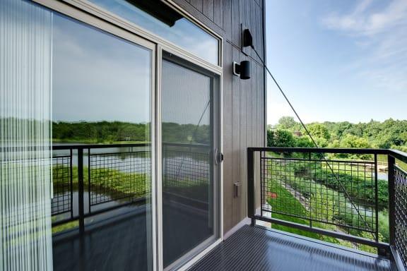 Large balcony with great views at Lake Jonathan Flats, Chaska