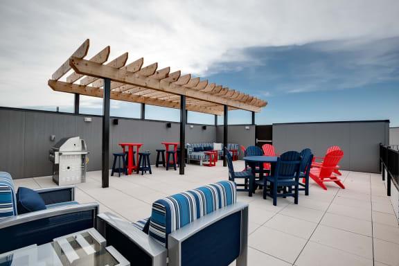 Rooftop Terrace Seating at Lake Jonathan Flats, Minnesota