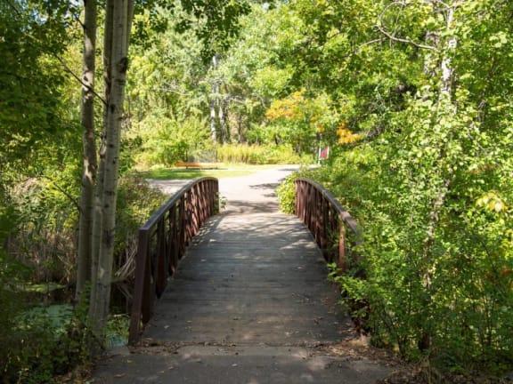 Greenspace Walking Trails at Aspenwoods Apartments, Eagan, Minnesota