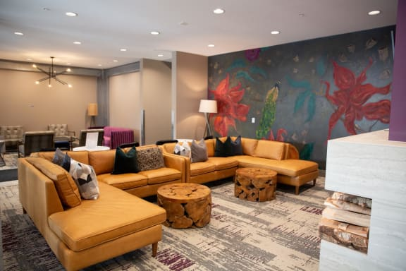 Picturesque Lobby Area at Birdtown Flats, Robbinsdale, MN, 55422