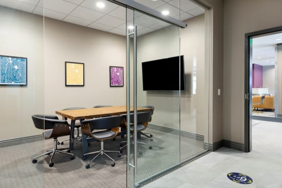 Business center private office at Birdtown Flats, Robbinsdale, MN