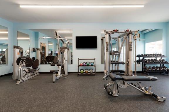 Fitness room at Birdtown Flats, Robbinsdale, MN
