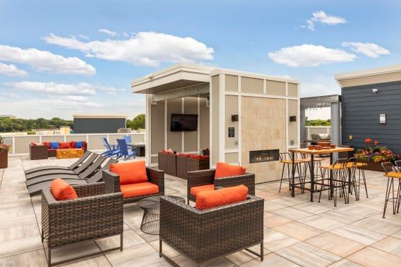 Rooftop Lounge at Birdtown Flats, Minnesota