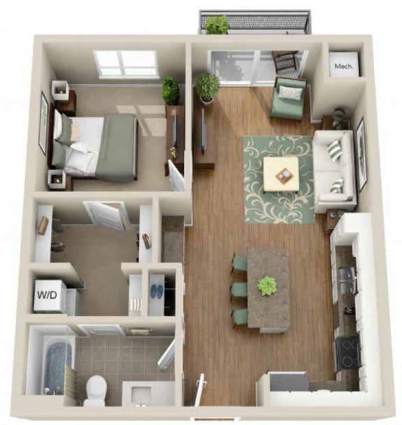 Floor Plan  Floor plan at Martin Blu, Eden Prairie, MN 55344