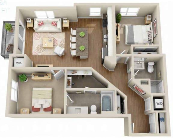 Floor Plan  Floor plan at Martin Blu, Eden Prairie