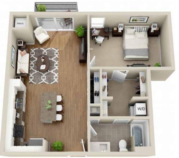 Floor Plan  Floor plan at Martin Blu, Eden Prairie, Minnesota