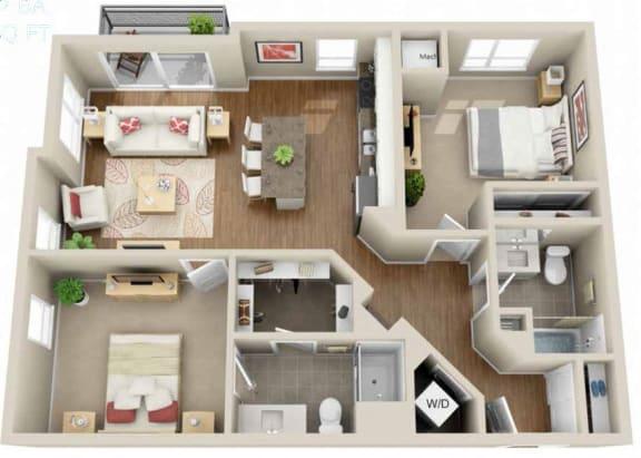 Floor Plan  Floor plan at Martin Blu, Minnesota