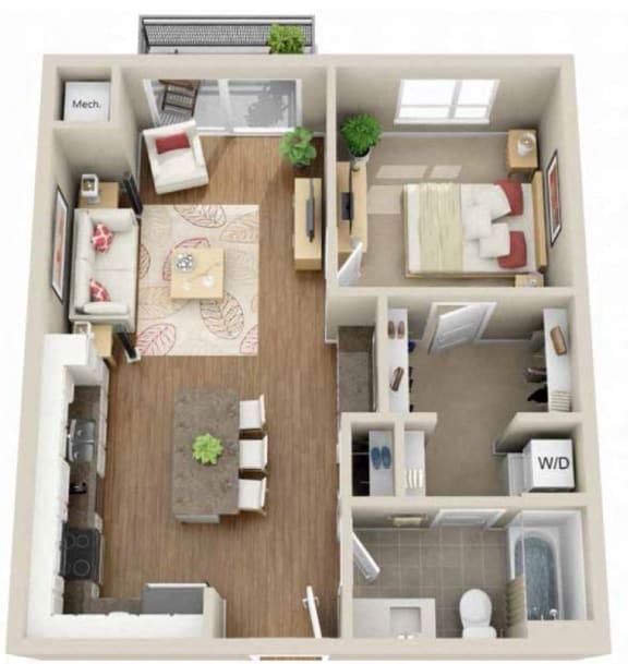 Floor Plan  Floor plan at Martin Blu, Minnesota, 55344
