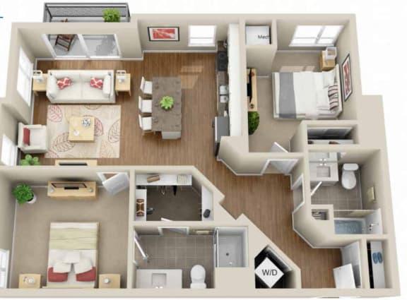 Floor Plan  Floor plan at Martin Blu, Eden Prairie, 55344