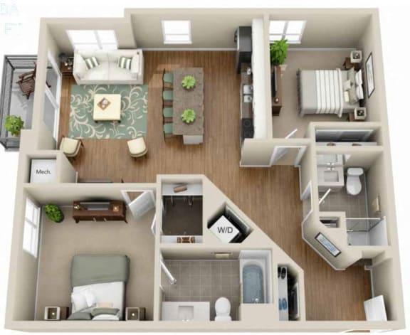 Floor Plan  Floor plan at Martin Blu, Eden Prairie, MN