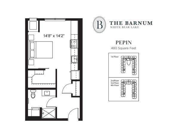 Floor Plan  Pepin Floor Plan at The Barnum, White Bear Lake, 55110