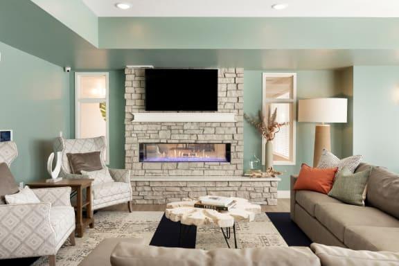 Relaxing Resident Lounge at The Barnum, White Bear Lake, MN
