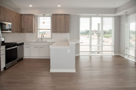 Marc floor plan, kitchen and dining area