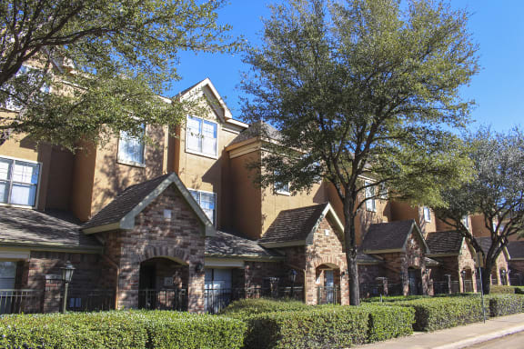 This is a photo of some private entranecs at The Brownstones Townhome Apartments in Dallas, TX.