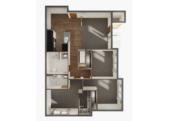 Three Bedroom Floor Plan 2 at Panorama, Washington, 98065